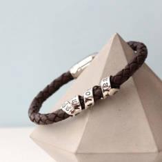 Personalised silver twist bracelet