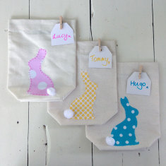 Dotty bunny tails gift bag pack (set of 3)