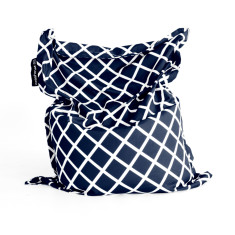 Navy diamonds bean bag cover