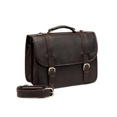 TheCompanion Dark Brown Leather Briefcase