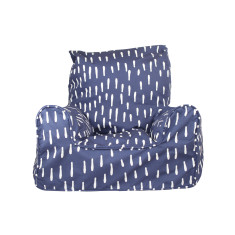 Indigo Raindrops Bean Chair Cover
