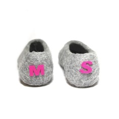 Personalised Initial Women's Wool Slippers