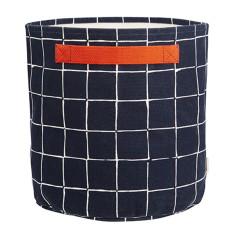 Inku dark large canvas storage basket