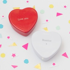Penelope engraved heart tin
