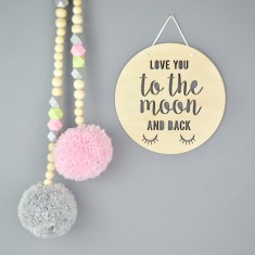 Love you to the Moon & Back Wood Sign
