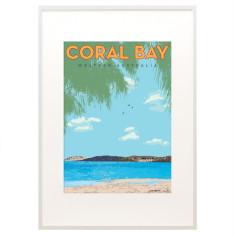 Vintage Coral Bay Western Australia print