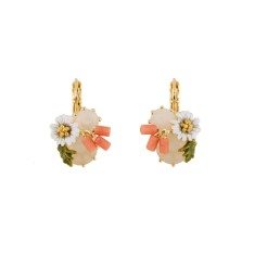 Daisy and White Stone Earrings
