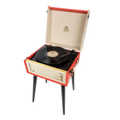 GPO Bermuda Turntable In Red