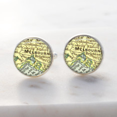 Melbourne city map cufflinks