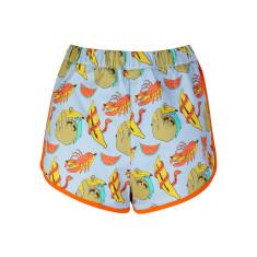 Sloth Print Shorts