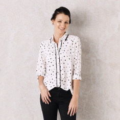 Polka dot shirt in White