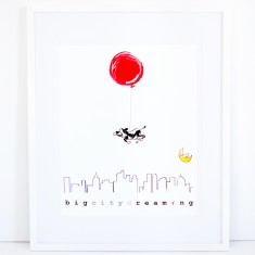Dream Balloon Print - Big City Dreaming