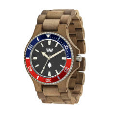 WeWood Date MB Nut Rough/French Wood Watch