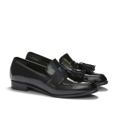 Ecstasy II tassel loafers in rainbow-metallic black