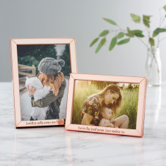 Personalised Mother's Day Rose Gold Frame
