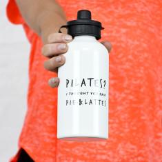 Pilates pie & lattes water bottle