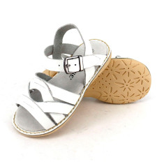 Kids' coast leather sandals in white