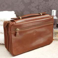 The Cascina Double Zip Wash Bag