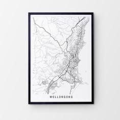 Wollongong minimalist map print