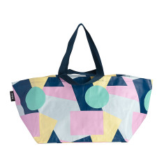 Beach Bag in Colour Block print