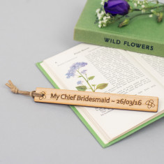 Thank you bridesmaid personalised bookmark