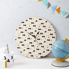 Snails And Mountains Clock