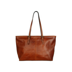 Elena full grain work bag in brown