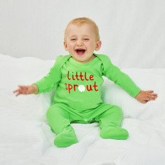 Little Sprout Christmas Baby Sleepsuit Romper