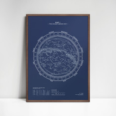 The Northern Sky — Map I (various colours)