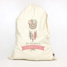 Kids' personalised dreamcatcher storage sack