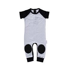 Grey Short Sleeve Crawl-suit