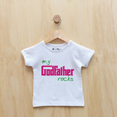 My godfather rocks t-shirt in blue or pink