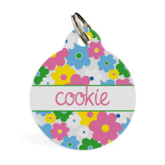 Personalised standard pet ID tag (Floral)