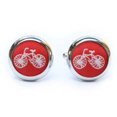 Red bike cufflinks
