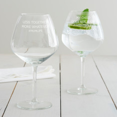 Personalised 'Less Together More Whatever' Goblet Glass