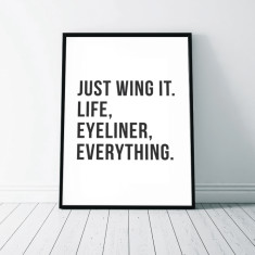 Just Wing It Wall Art Print