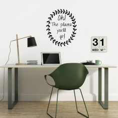 Oh the places you'll go wreath wall decal (various colours)