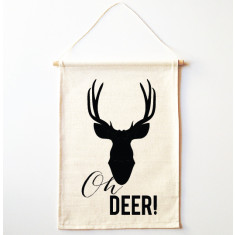 Oh deer wall banner