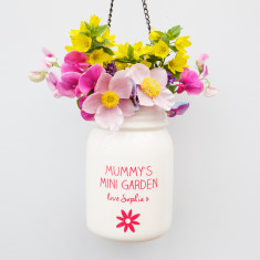 Personalised Hanging White Jar