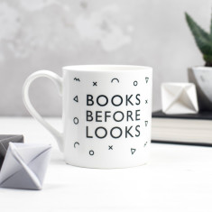 Book Before Looks Bone China Mug