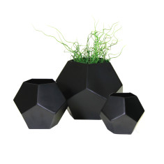 Iron Pentagon Vases (set of 3)