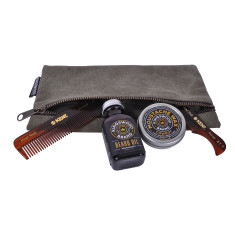 Beard & moustache wax set