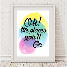 Oh the places you'll go watercolour print