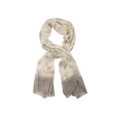 My Softest Cotton Scarf: Ancient Soft Grey & White Tones