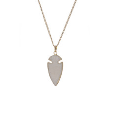 Arrow White Jade Pendant Neckalce