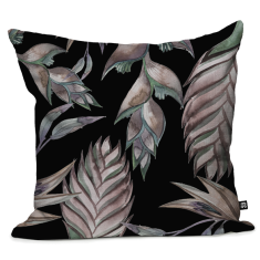 River Shack Ginger Floral Cushion Cover - Black