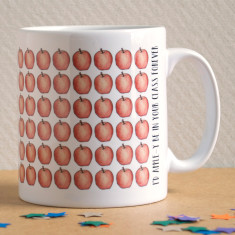 I'd apple-y be in your class forever thanks teacher mug