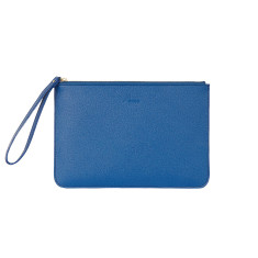 Classic clutch in light blue saffiano leather
