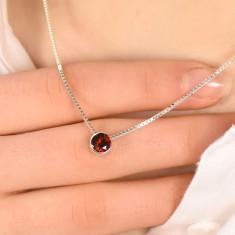 Garnet necklace january birthstone