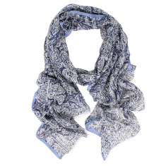 Carousel Wool Silk Scarf (various colours)